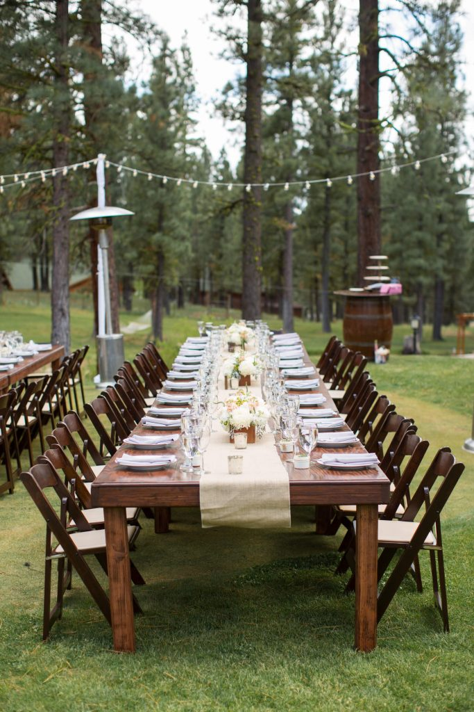 Dark Stain Farm Table Camelot Party Rentals Northern